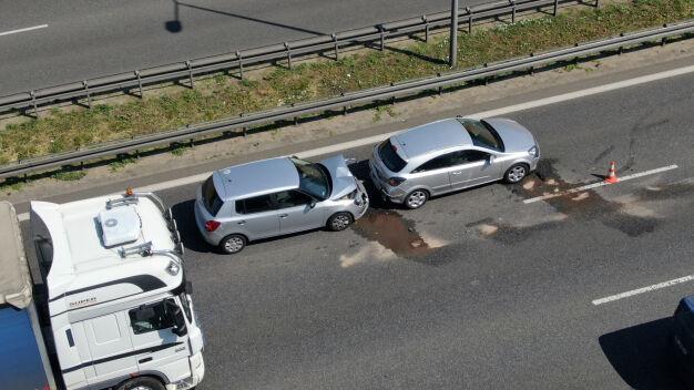 Zderzenie czterech aut na S8. Korek miał kilka kilometrów