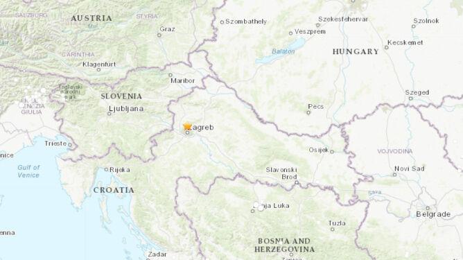 Tu doszło do trzęsienia ziemi (USGS)