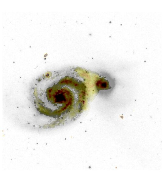 Galaktyka Wir, M51 (Sean Mooney/LOFAR Surveys Team/Digitized Sky Survey)