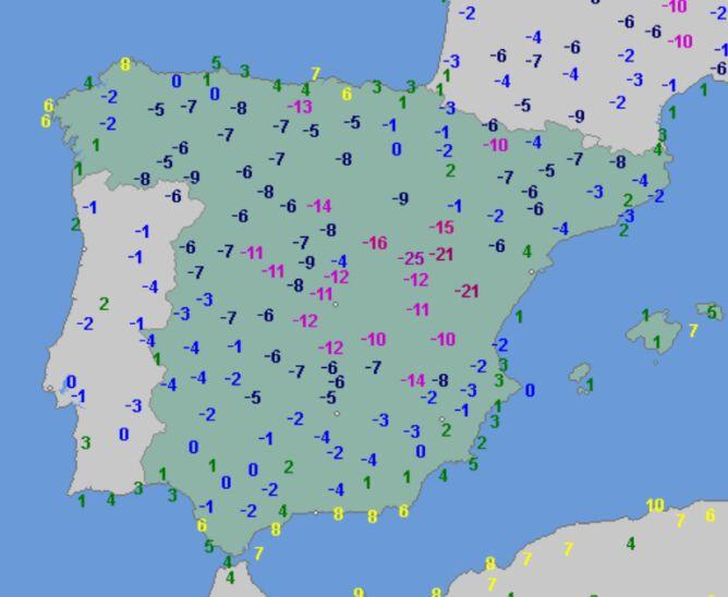 Temperatura minimalna 12 grudnia (wetteronline.de)