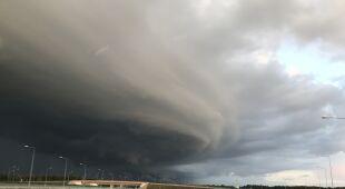 Burza nad Pabianicami na drodze S8