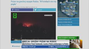Pożar na greckiej wyspie Rodos